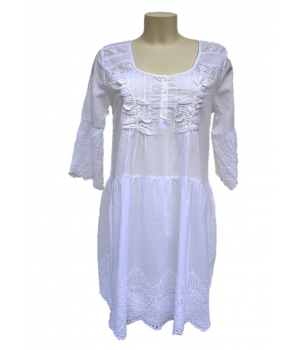 Tunic with lace & embroidery