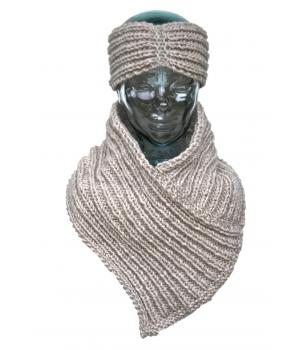 Bandeau & tour de cou fait main en laine