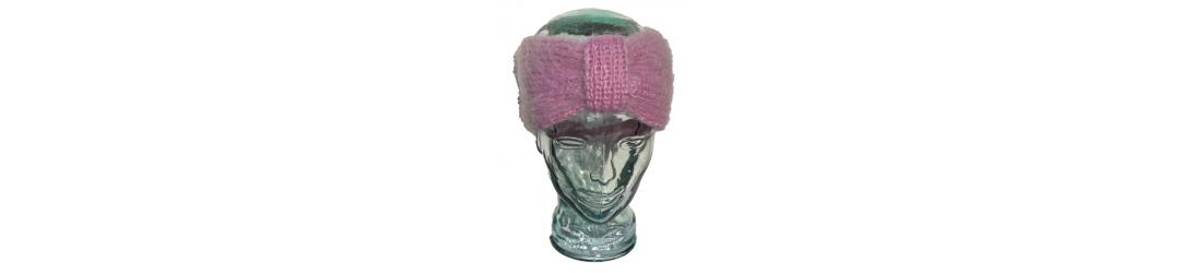 bandeau de tête faites main en mohair, laine, soie, cachemire