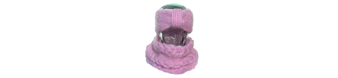 handmade women's accessories, hats, shawls, headbands, scarves, mohair neck warmers, wool